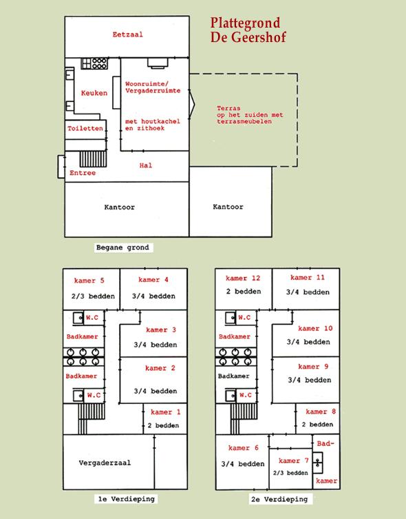 De Geershof - plattegrond